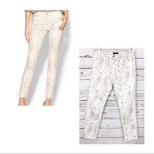 SANCTUARY white watercolor floral skinny jeans